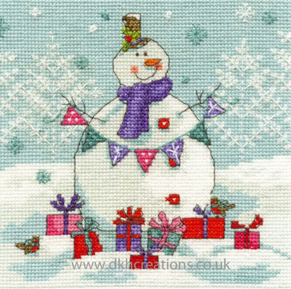 Snowman With Presents  Cross Stitch Kit